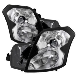 ( OE ) Cadillac CTS 03-07 Crystal Headlights - Halogen Model Only ( Not Compatible With Xenon/HID Model ) - Chrome