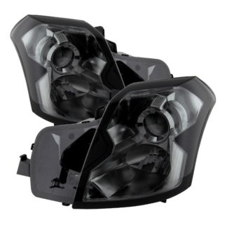 ( xTune ) Cadillac CTS 03-07 Crystal Headlights - Halogen Model Only ( Not Compatible With Xenon/HID Model ) - Smoke