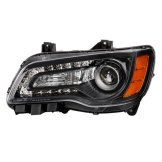 ( OE ) Chrysler 300 Halogen Only 2011-2014 (Won't Fit HID Models ) Black Bezel Driver Side Headlight -OEM Left