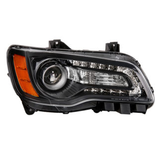 ( OE ) Chrysler 300 Halogen Only 2011-2014 (Won't Fit HID Models ) Black Bezel Passenger Side Headlight -OEM Left