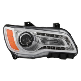 ( OE ) Chrysler 300 Halogen Only 2011-2014 (Won't Fit HID Models ) Chrome Bezel Passenger Side Headlight -OEM Left