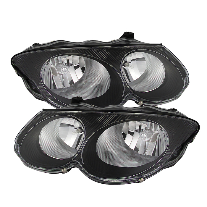 ( xTune ) Chrysler 300M 1999-2004 (don't fit HID model) Crystal Headlights - Black