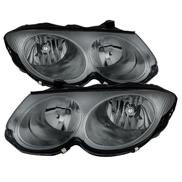 ( xTune ) Chrysler 300M 1999-2004 (don't fit HID model) Crystal Headlights - Smoke