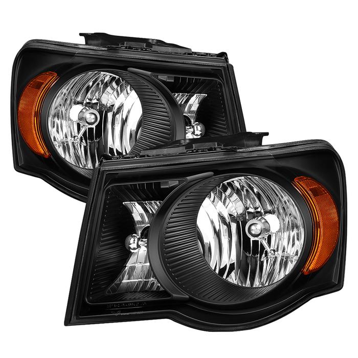 ( xTune ) Chrysler Aspen 07-09 / Aspen Hybrid 2009 OEM Style Headlights - Black