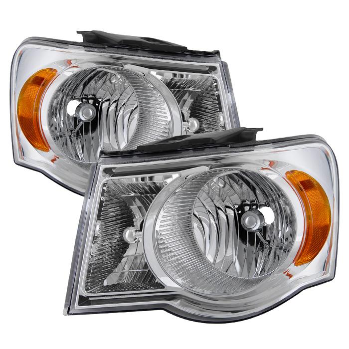 ( OE ) Chrysler Aspen 07-09 / Aspen Hybrid 2009 OEM Style Headlights - Chrome