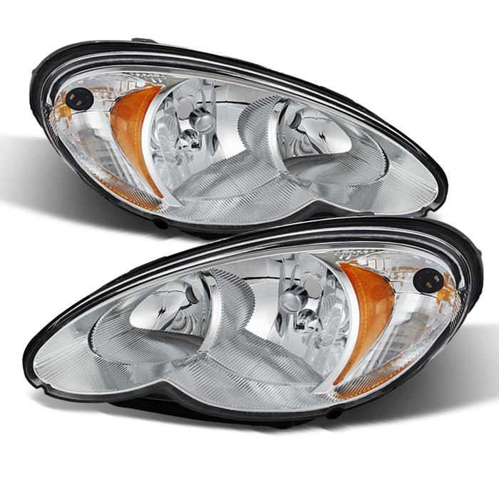 ( OE ) Chrysler PT Cruiser 06-10 Halogen Only Headlights -Chrome