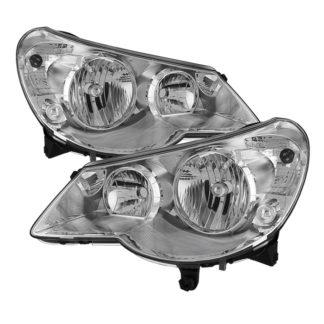 ( OE ) Chrysler Sebring 07-10 OEM Style Headlights - Chrome