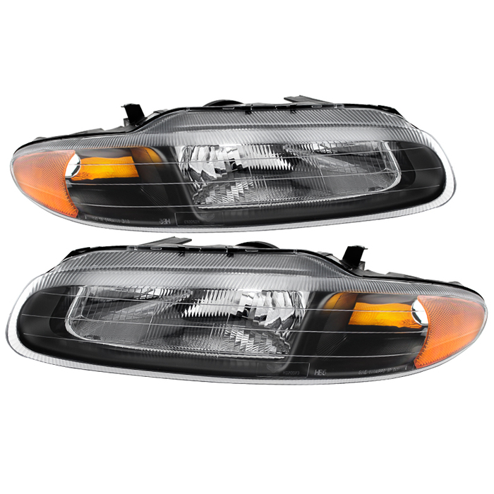 ( xTune ) Chrysler Sebring Convertible 96-00 Crystal Headlights - Black