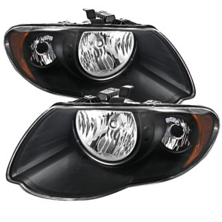 ( xTune ) Chrysler Town & Country 05-07 (with Long Wheel Base Models) Crystal Headlights - Black