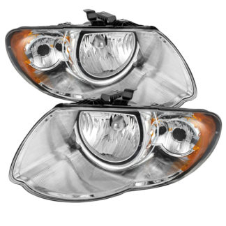 ( OE ) Chrysler Town & Country 05-07 (with Long Wheel Base Models) Crystal Headlights - Chrome
