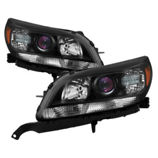 ( xTune ) Chevy Malibu 13-15 Headlights - OE Style Projector Black Fit 2013-2015 Eco LT LTZ and 2016 Limted LT Limited LTZ (not fit LS)