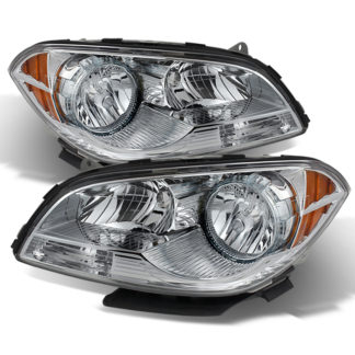 ( OE ) Chevy Malibu 2008-2012 Crystal Headlights - Chrome