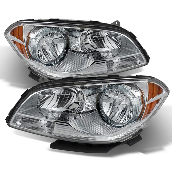 ( OE ) Chevy Malibu 2008-2012 Crystal Headlights - Chrome