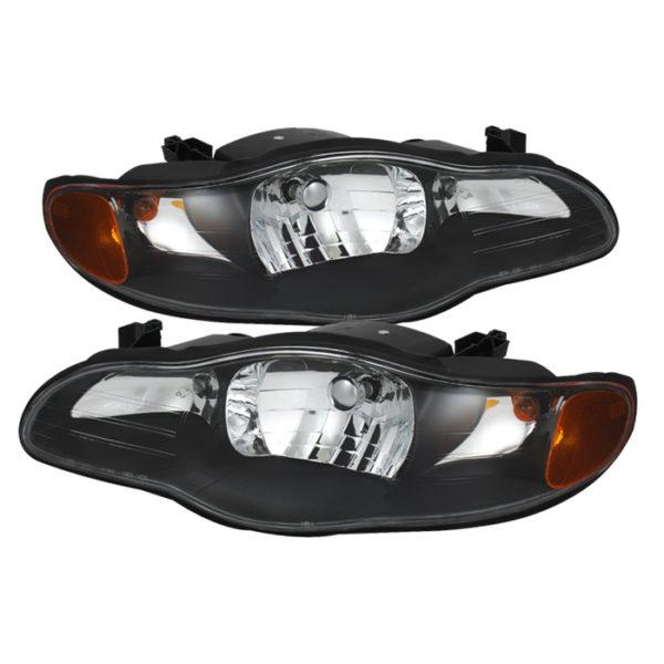 ( xTune ) Chevy Monte Carlo 00-05 Crystal Headlights – Black