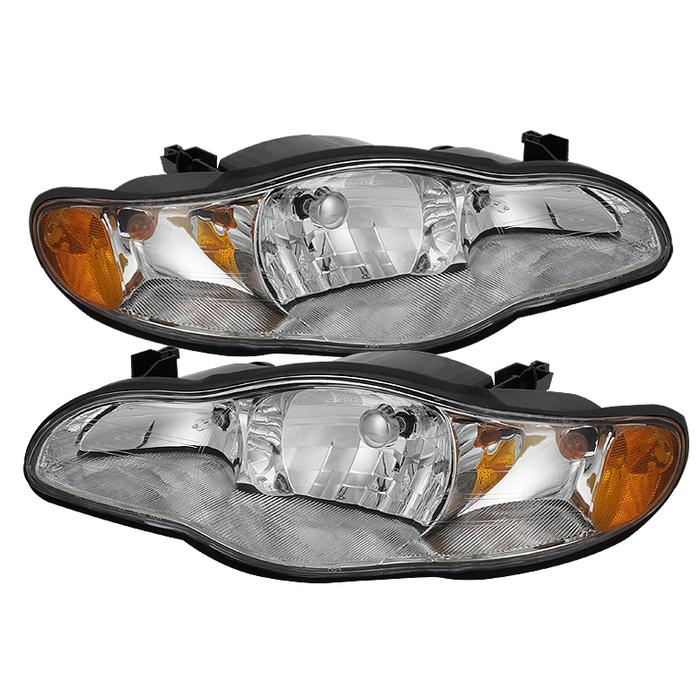 ( OE ) Chevy Monte Carlo 00-05 Crystal Headlights - Chrome