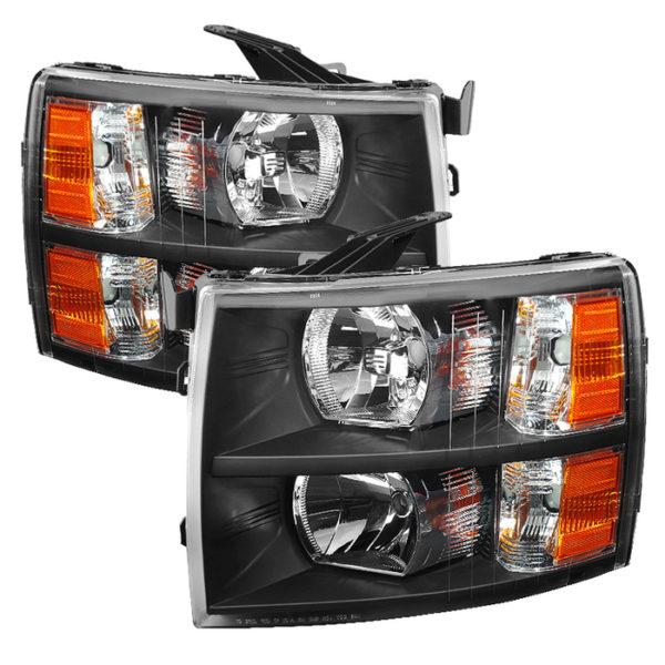 ( xTune ) Chevy Silverado 1500 07-13  2500HD/3500HD 07-14 Crystal Headlights - Black