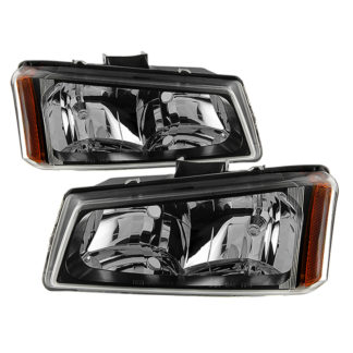 ( xTune ) Chevy Silverado 1500/2500/3500 03-06 / Chevy Silverado 1500HD 03-07 / Chevy Silverado 2500HD 03-06 Crystal Headlights - Black