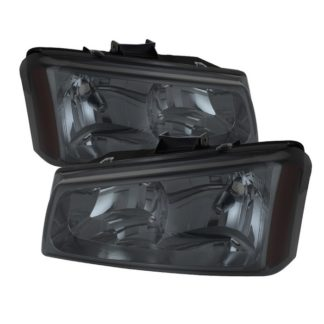 ( xTune ) Chevy Silverado 1500/2500/3500 03-06 / Chevy Silverado 1500HD 03-07 / Chevy Silverado 2500HD 03-06 Crystal Headlights - Smoke