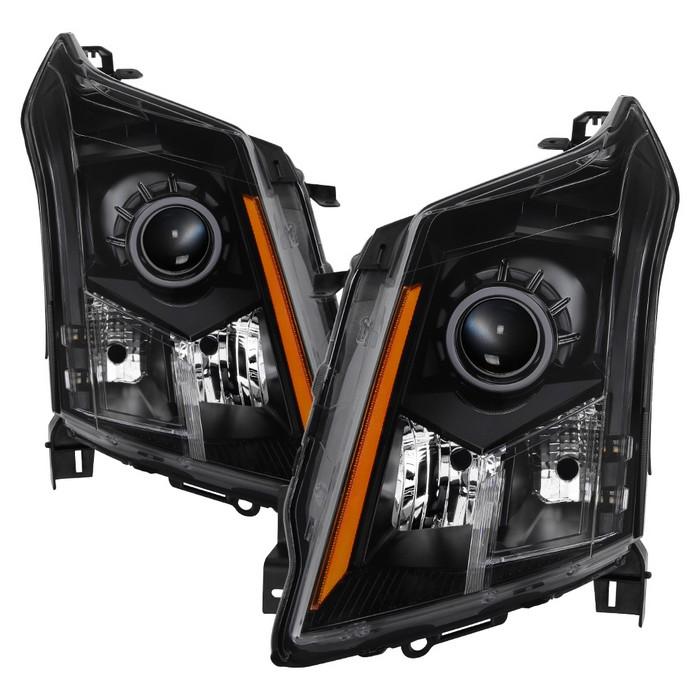 ( xTune ) Cadillac SRX 10-14 OE Style Halogen Headlights - Black