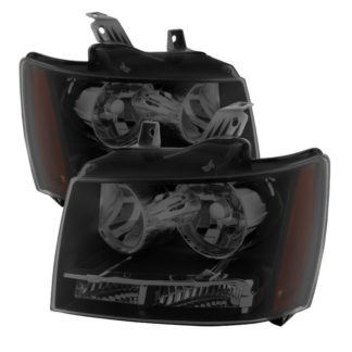 ( xTune ) Chevy Suburban 1500/2500 07-14 / Chevy Tahoe 07-14 / Avalanche 07-14 Crystal Headlights - Black Smoked