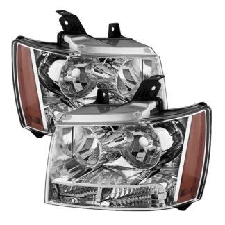 ( OE ) Chevy Suburban 1500/2500 07-14 / Chevy Tahoe 07-14 / Avalanche 07-14 Crystal Headlights - Chrome