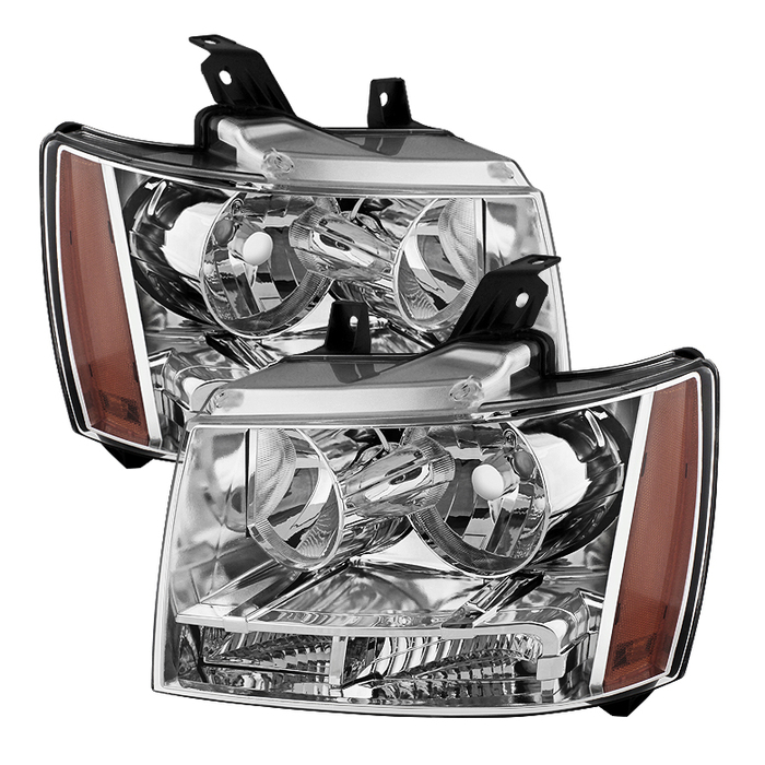 ( OE ) Chevy Suburban 1500/2500 07-14 / Chevy Tahoe 07-14 / Avalanche 07-14 Crystal Headlights - Chrome