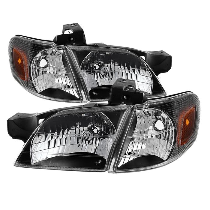 ( xTune ) Chevy Venture 97-05 / Oldsmobile Silhouette 97-04 / Pontiac Montana 99-05 / Pontiac Trans Sport 97-98 OEM Style Headlights With Corner Lights  - Black