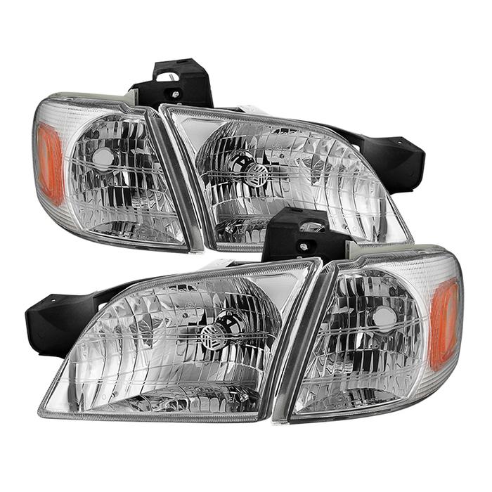 ( OE ) Chevy Venture 97-05 / Oldsmobile Silhouette 97-04 / Pontiac Montana 99-05 / Pontiac Trans Sport 97-98 OEM Style Headlights With Corner Lights  - Chrome