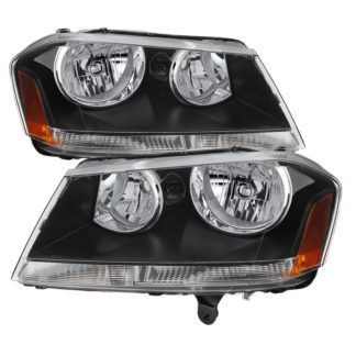 ( xTune ) Dodge Avenger 08-14 Crystal Headlights - Black