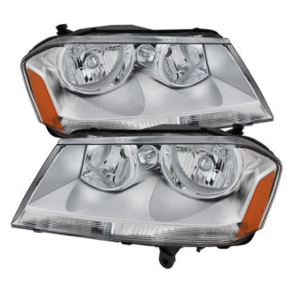 ( OE ) Dodge Avenger 08-14 Crystal Headlights - Chrome