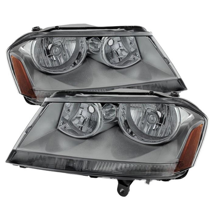 ( xTune ) Dodge Avenger 08-14 Crystal Headlights - Smoke