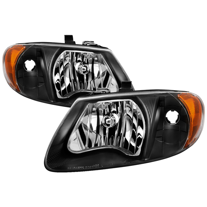 "( xTune ) Dodge Caravan & Grand Caravan 01-07 / Chrysler Town & Country (except '05-07 119"""" long wheel base) 01-07 / Chrysler Voyager & Grand Voyager 01-03 Crystal Headlights - Black"