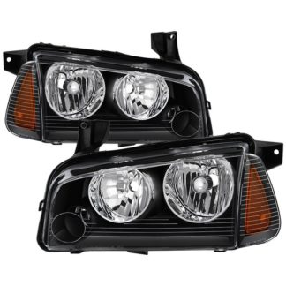 ( OE ) Dodge Charger 05-10 Halogen Only (Does Not Fit HID Model) OEM Style Headlights with Corner 4pcs - Black