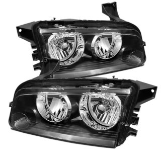 ( OE ) Dodge Charger 06-10 Halogen Only (Does Not Fit HID Model) Headlights - Black