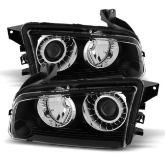 ( xTune ) Dodge Charger 08-10 HID Models Only (does not fit halogen) Headlights - Black