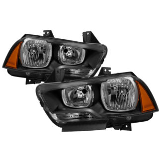 ( xTune ) Dodge Charger 2011-2014 Halogen Only (Does Not Fit HID Model) Headlights - Black