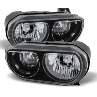 ( xTune ) Dodge Challenger 08-13 Halogen Only (does not fit HID model) Headlights Black