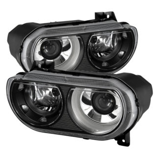 ( xTune ) Dodge Challenger 08-14 Xenon HID Model Only ( Don't fit Halogen Model ) Projector Headlamps - Black