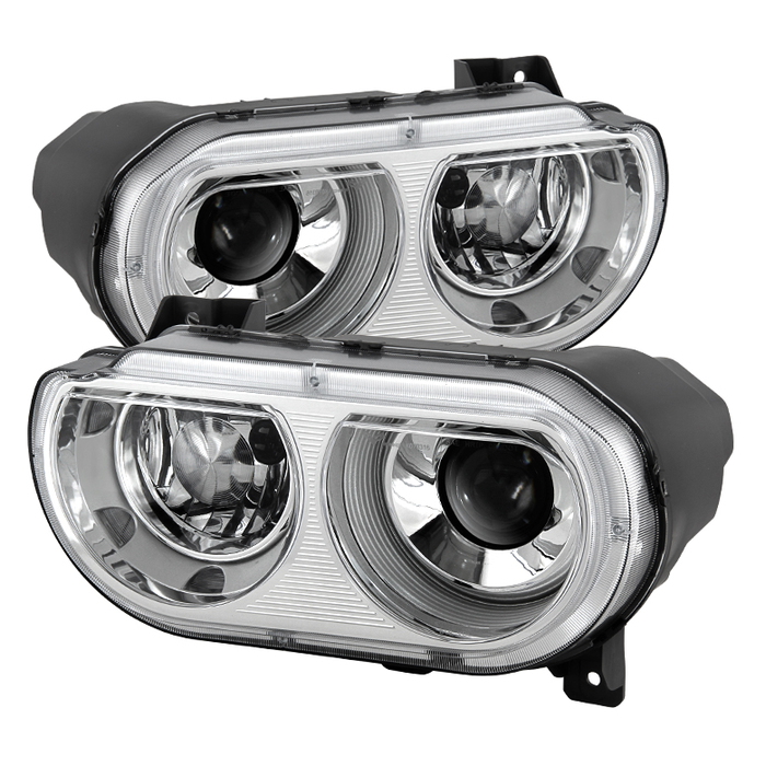 ( OE ) Dodge Challenger 08-14 Xenon HID Model Only ( Don't fit Halogen Model ) Projector Headlamps - Chrome