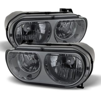 ( xTune ) Dodge Challenger 08-13 Halogen Only (does not fit HID model) Headlights -Smoked