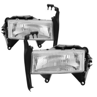( OE ) Dodge Dakota 1997-2004 / Durango 1998-2004 OEM Style Headlights - Chrome