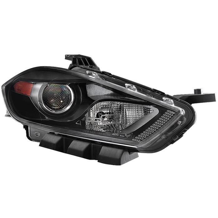 ( OE ) Dodge Dart 13-15 Halogen Only (Don't Fit HID models ) Passenger Side Projector Headlight -OEM Right - Black