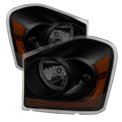( xTune ) Dodge Durango 04-05 OEM Headlamps - Black Smoked