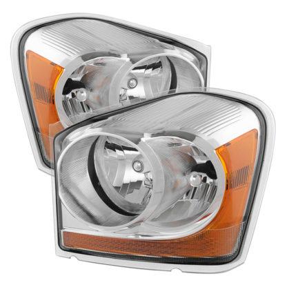 ( OE ) Dodge Durango 04-05 OEM Headlamps - Chrome