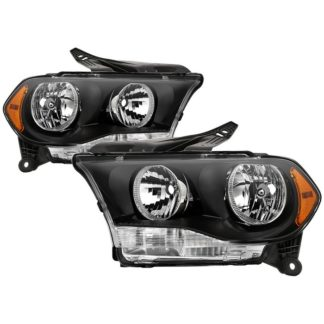 ( xTune ) Dodge Durango 2011-2013 Halogen Models ( Don't Fit Factory HID Models ) OEM Style Headlamps - Black