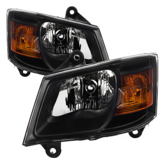 ( xTune ) Dodge Grand Caravan 08-10 OEM Style Headlights-Black