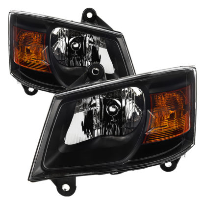 ( xTune ) Dodge Grand Caravan 08-10 OEM Style Headlights-Black