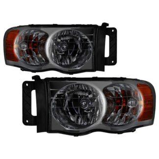 ( xTune ) Dodge Ram 1500 02-05 / Dodge Ram 2500/3500 03-05 Amber Crystal Headlights - Smoke