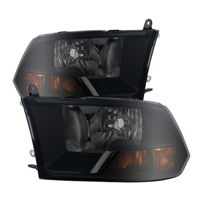 ( POE ) Dodge Ram 1500 09-12 ( Non Quad Headlights ) Crystal Headlights - Black Smoked