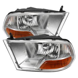 ( POE ) Dodge Ram 1500 09-12 ( Non Quad Headlights ) Crystal Headlights – Chrome